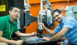 Researchers from the Oak Ridge National Laboratory's Materials Science and Technology Division, and U.S. Army Tank Automotive Research, Development, and Engineering Center, are studying welded armor and testing a new weld wire using neutron diffraction at
