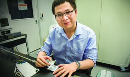 Ling Cai, a former student of the National School on Neutron and X-Ray Scattering (NXS) and currently a research scientist at Corning Incorporated came to SNS recently to make fundamental measurements relating thermal and vibrational properties of silica